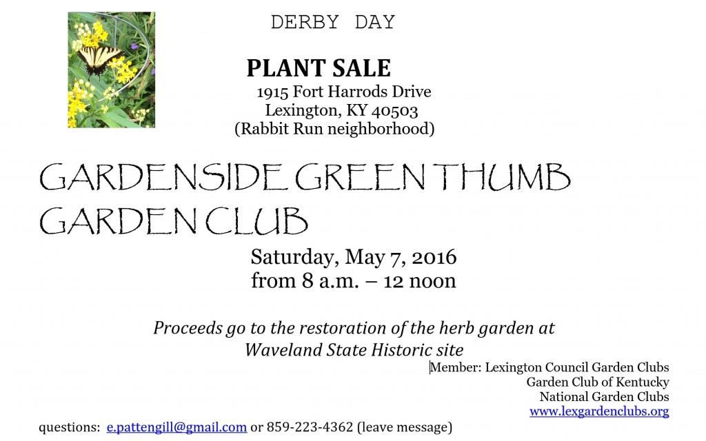 derby day plant sale 2016